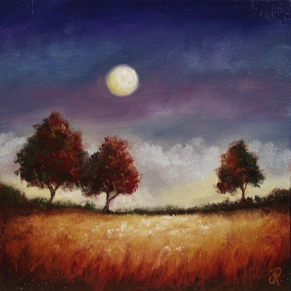 """Three Red Trees"" original fine art by Jane Palmer"