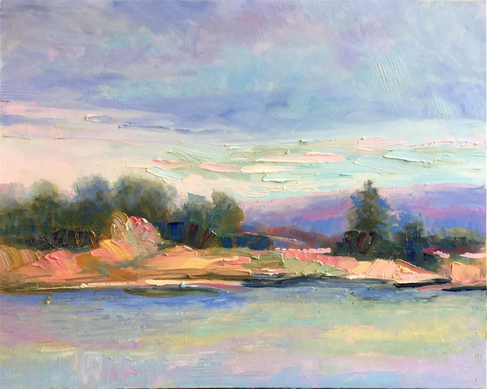 """Quiet Lake"" original fine art by Charlotte Fitzgerald"