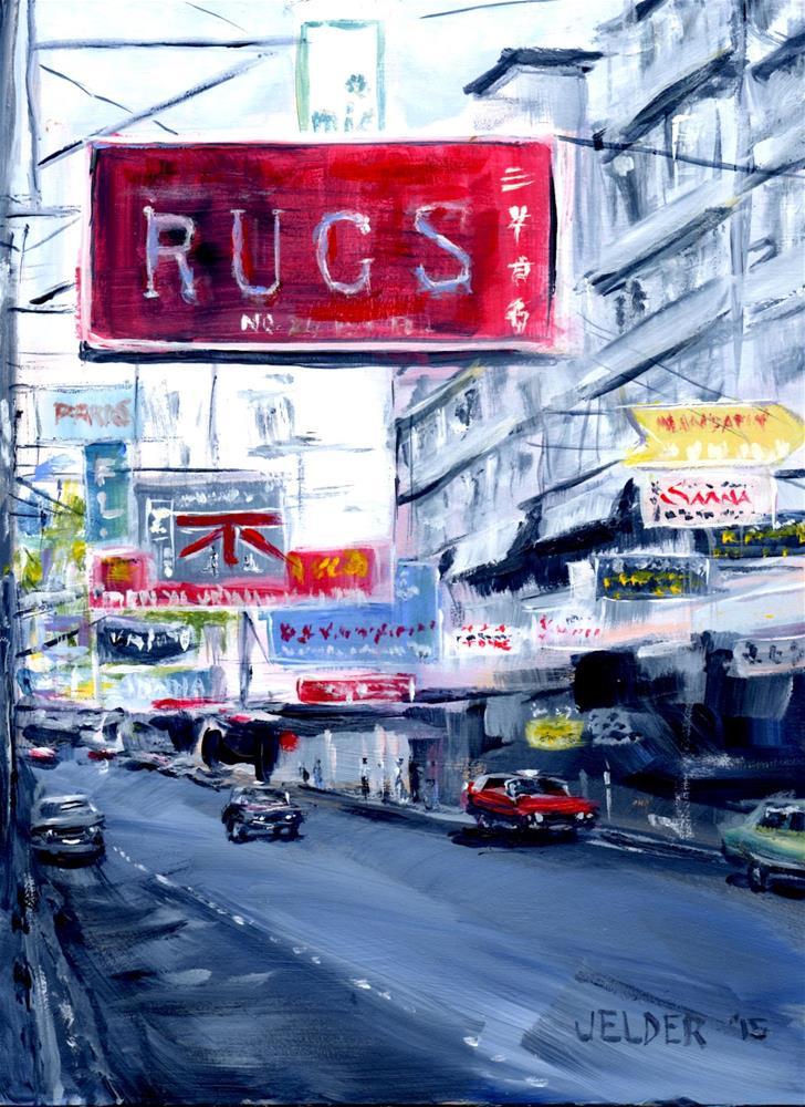 """Rugs"" original fine art by Judith Elder"
