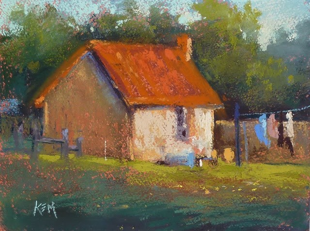 """The Haunted Manor... Impressions of France part 4"" original fine art by Karen Margulis"