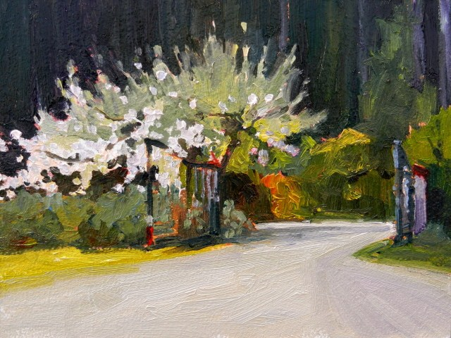"""""""The Studio Gate oil landscape painting, by Robin Weiss"""" original fine art by Robin Weiss"""