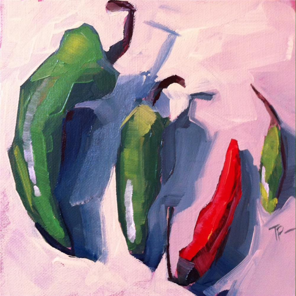 """Brave Little Red"" original fine art by Teddi Parker"