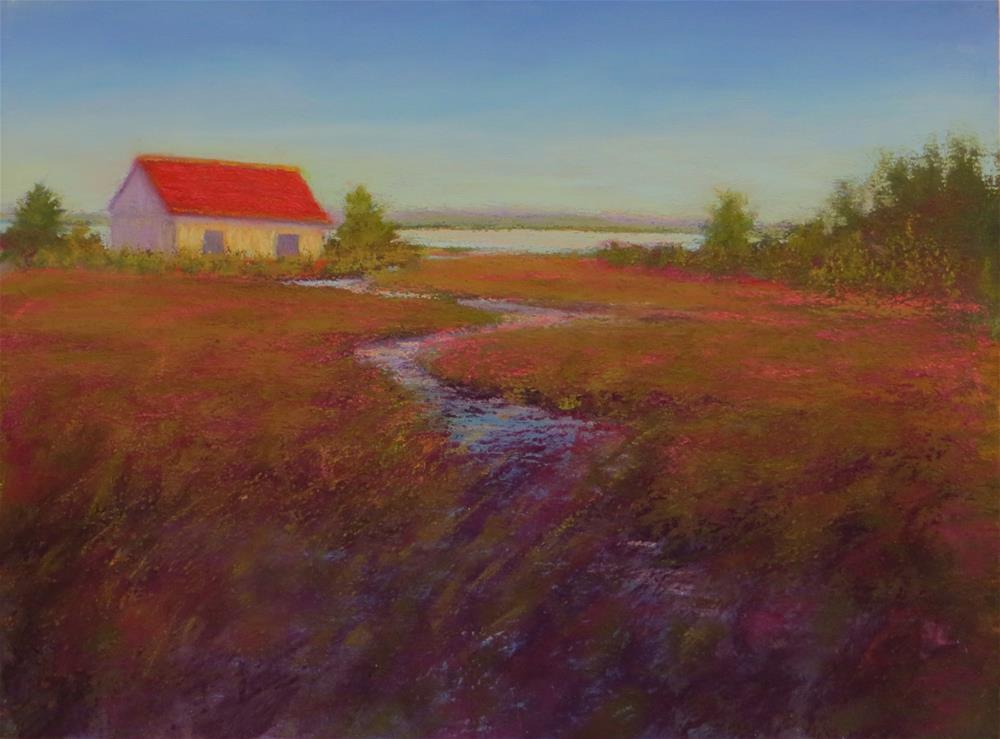 """Christmas Marsh"" original fine art by Sharon Lewis"