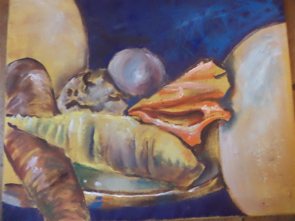 """abstraction of shells bold and beautiful"" original fine art by tara stephanos"
