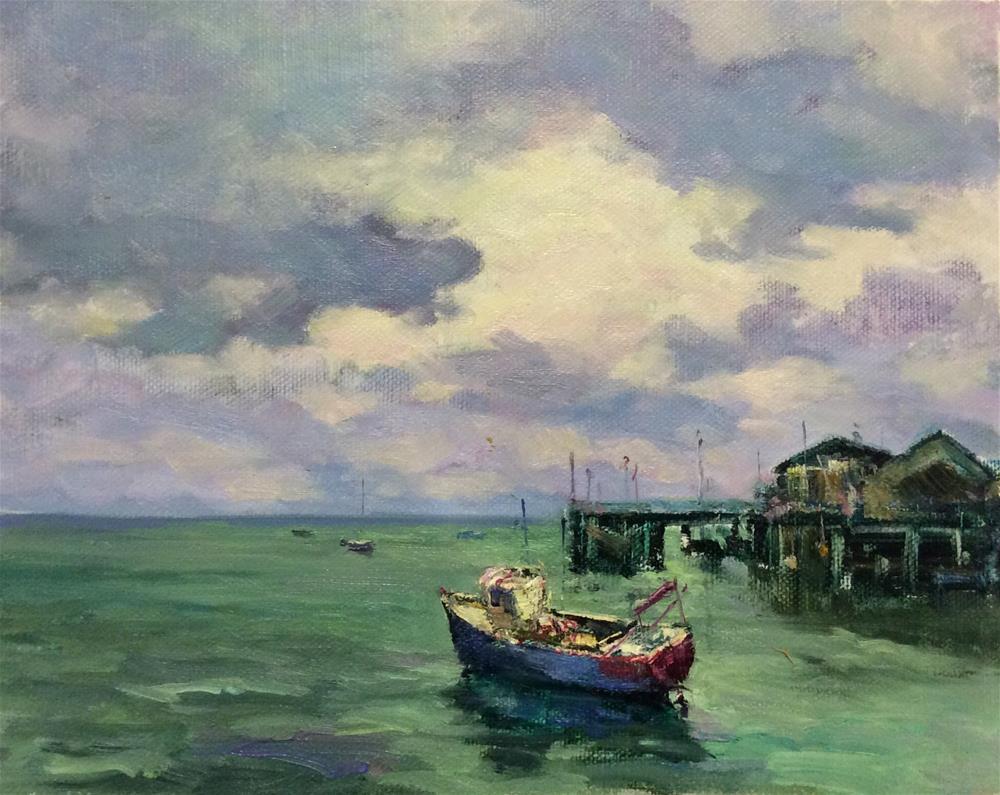 """Aberdovey Bay"" original fine art by John Shave"