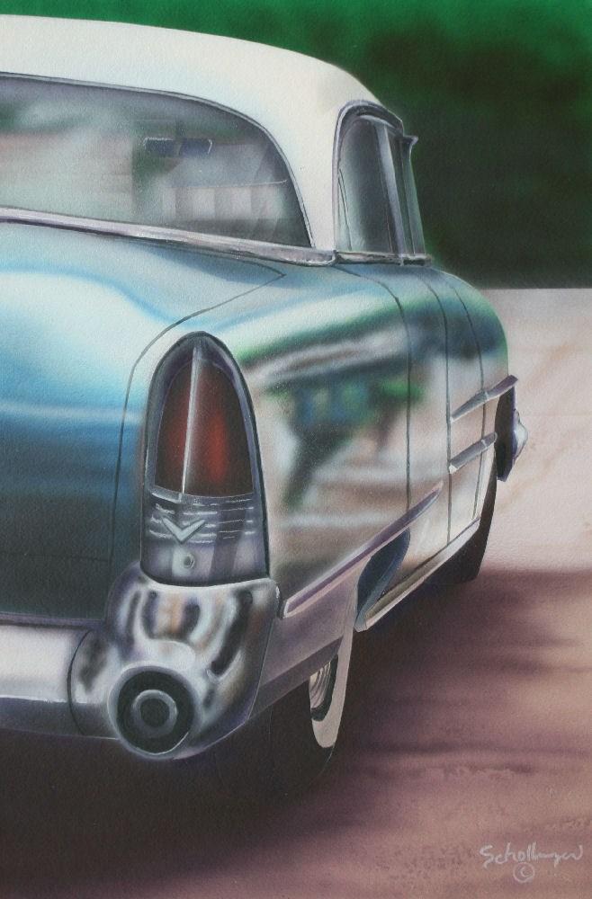 """Classic Ride"" original fine art by Fred Schollmeyer"