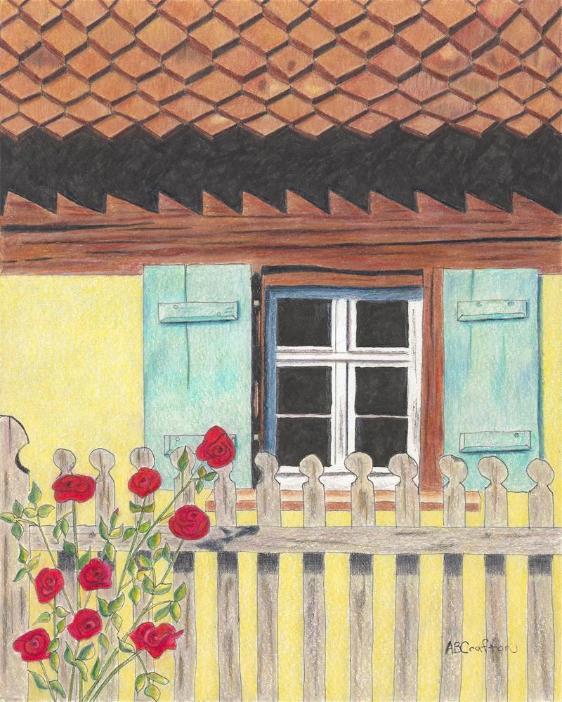 """Yellow Villa"" original fine art by Arlene Crafton"