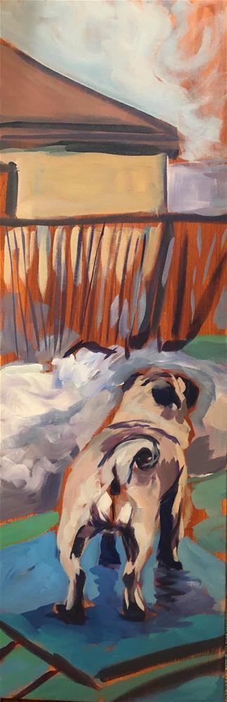 """""""Pug Inaction"""" original fine art by Kat Corrigan"""