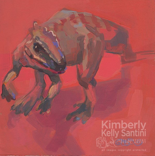 """T Rex, Toy #20 of 100 Toys by Kimberly Kelly Santini"" original fine art by Kimberly Santini"