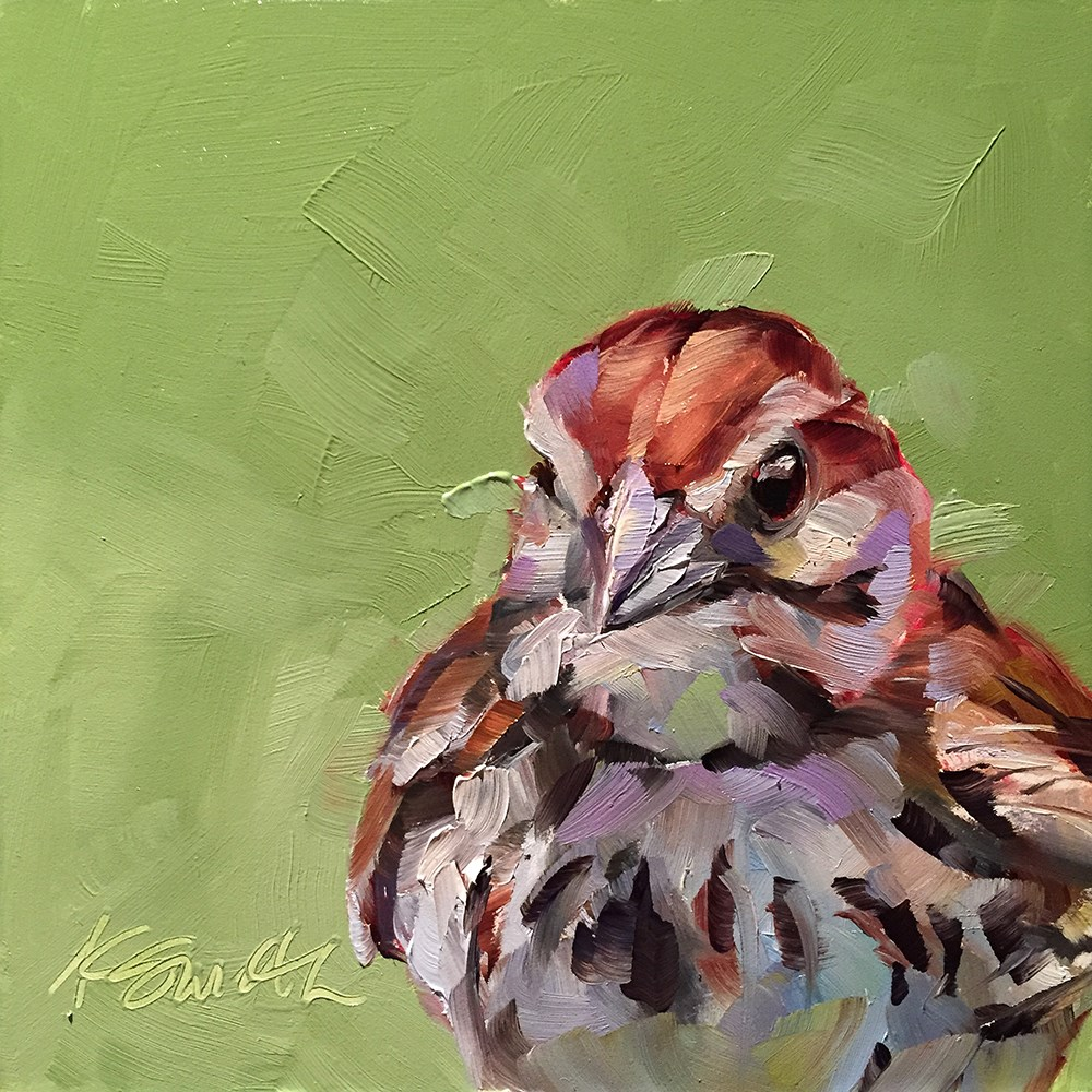 """sparrow"" original fine art by Kim Smith"