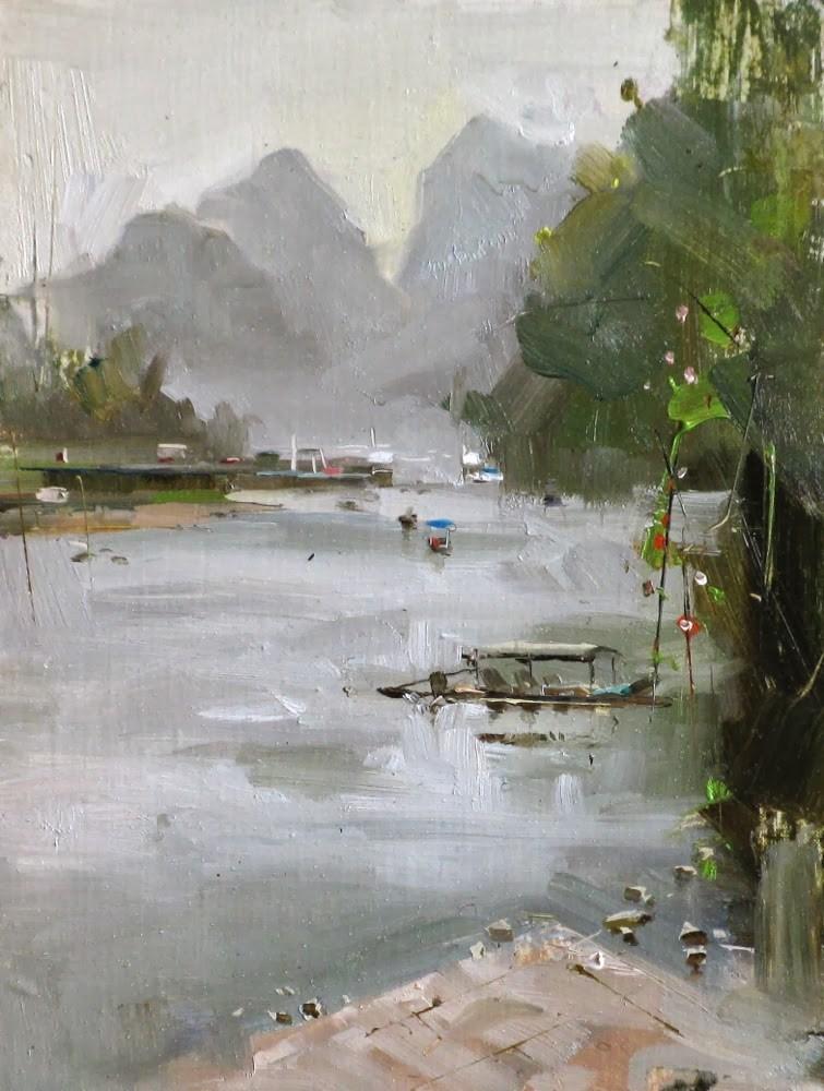 """""""Li River"""" original fine art by Qiang Huang"""