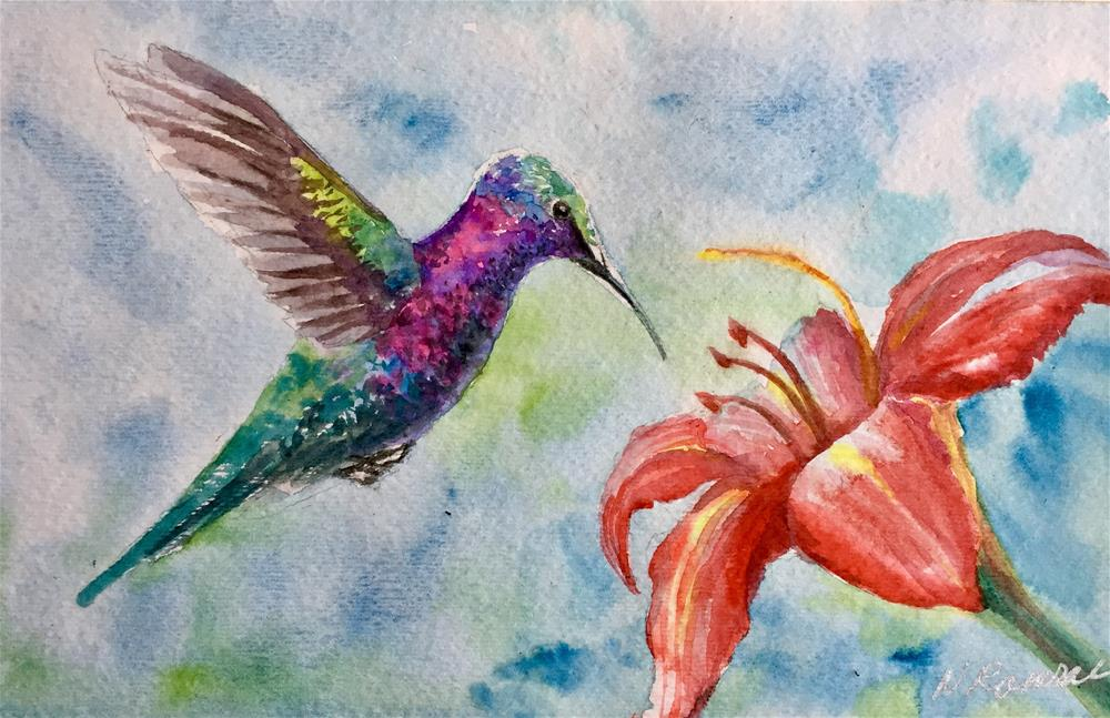 """Hummingbird 3"" original fine art by Natasha Ramras"