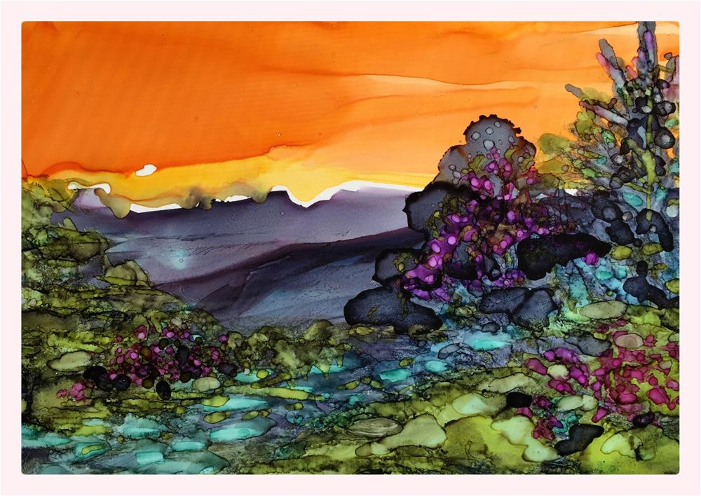 """Sunrise Ridge"" original fine art by Kelly Alge"