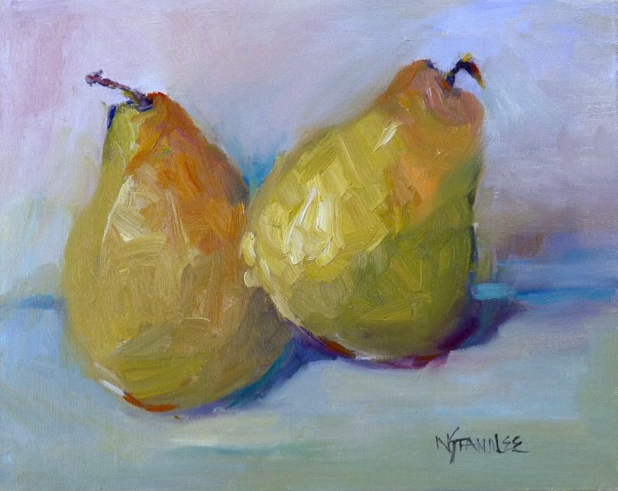 """Georgia Pears 14002"" original fine art by Nancy Standlee"