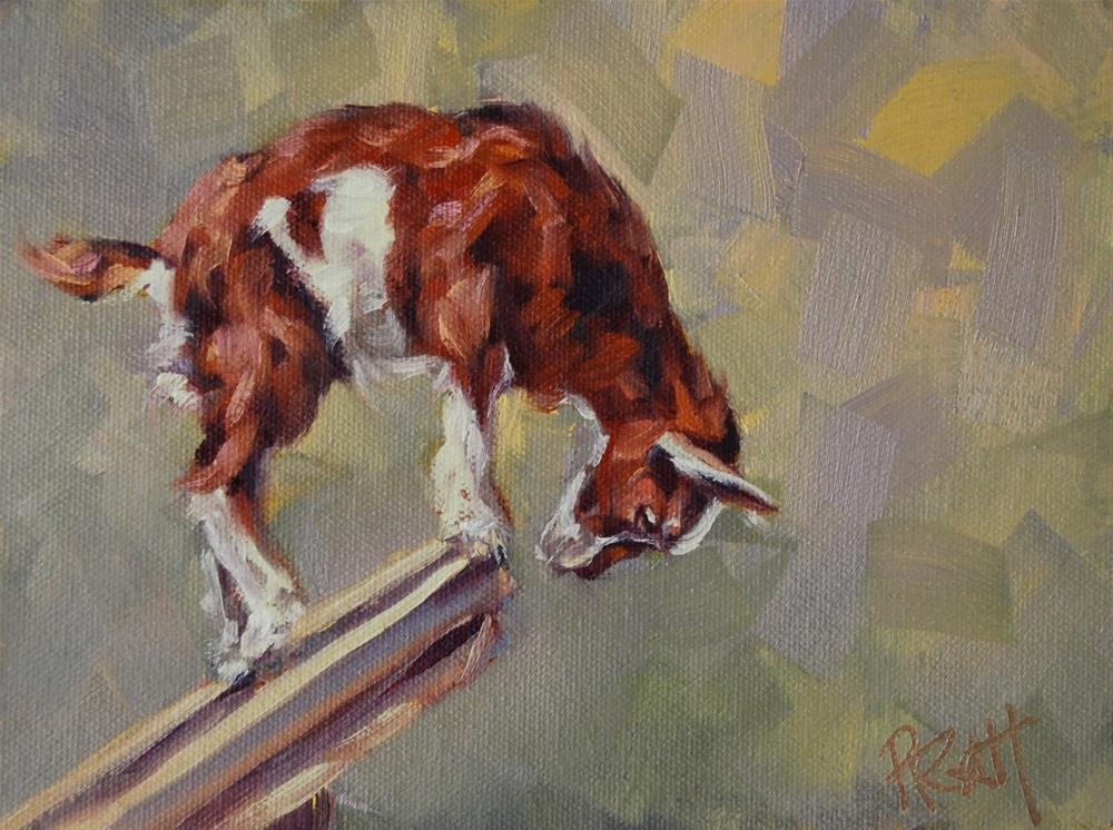 """Goat Decisions"" original fine art by Jennifer Pratt"