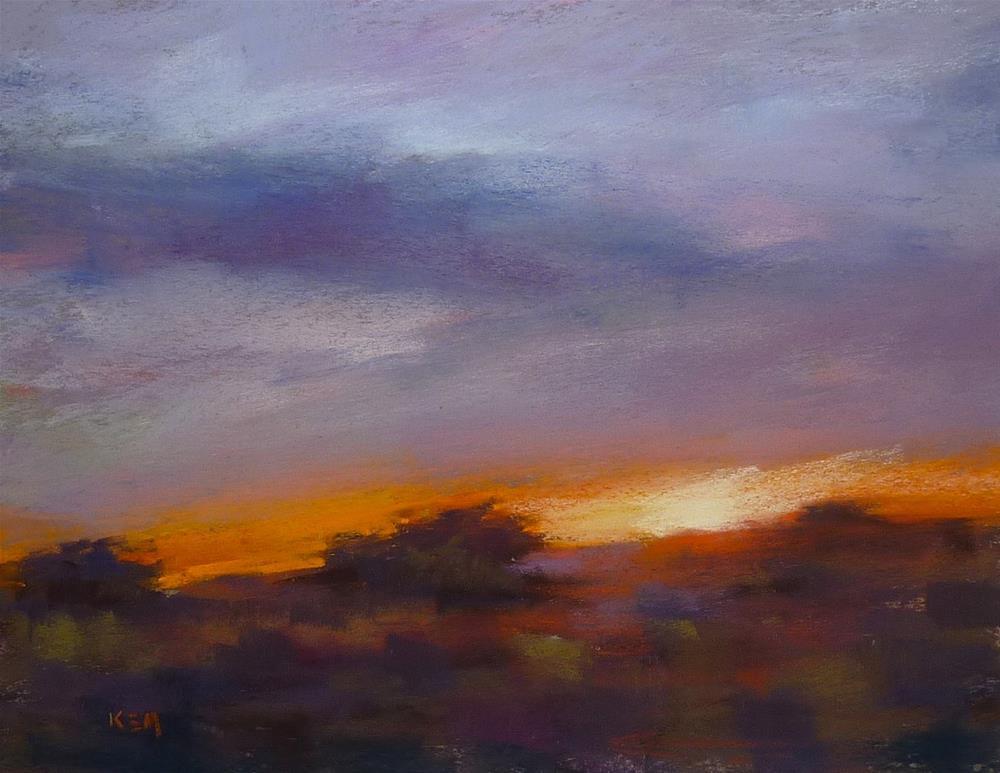 """""""Painting a Sunset....When Photos Lie"""" original fine art by Karen Margulis"""