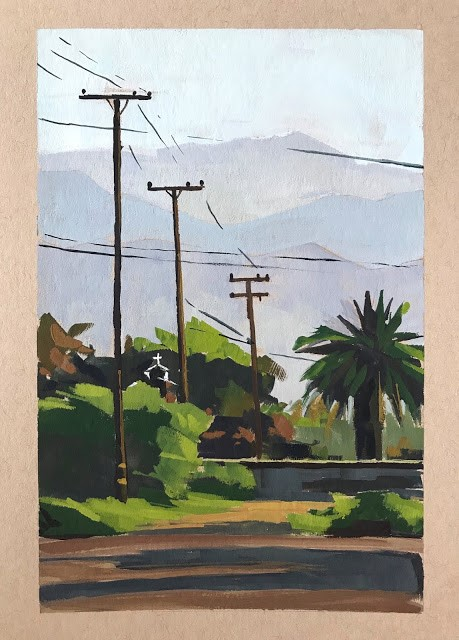 """Carpinteria Lines - 5x7"" original fine art by Sharon Schock"