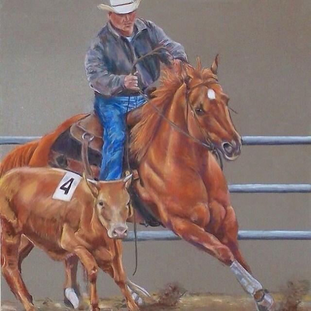 """#30  Rodeo"" original fine art by Bobbie Deuell"