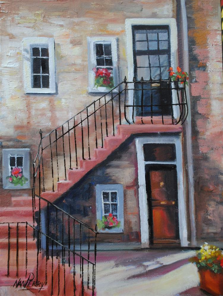 """""""Upstairs, Downstairs """" original fine art by Nan Perry"""