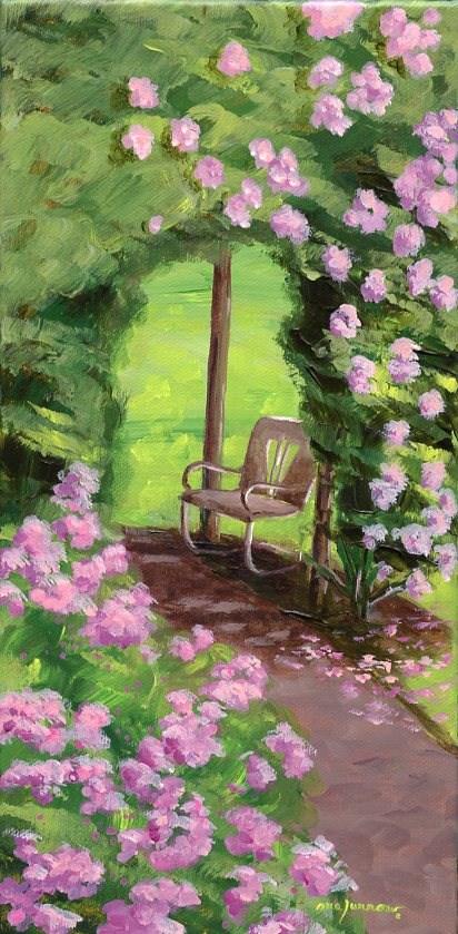 """Antique Chair"" original fine art by Sue Furrow"