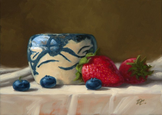 """Cheryl's Pottery #1"" original fine art by David Capalungan"