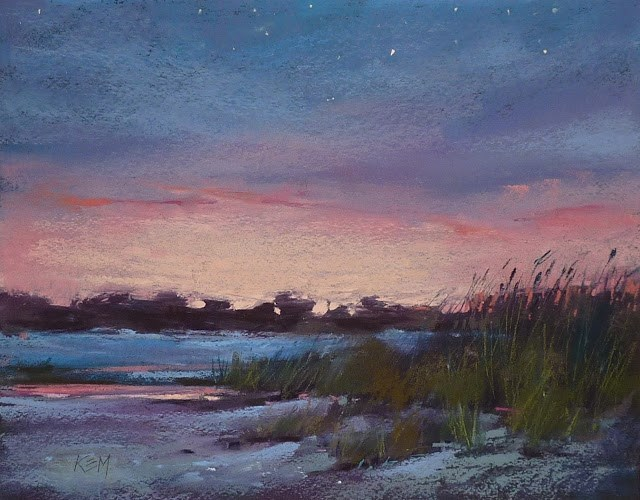 """Tips for Painting The Night Sky"" original fine art by Karen Margulis"