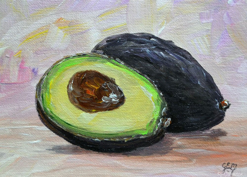"""Avocado Goodness"" original fine art by Gloria Ester"