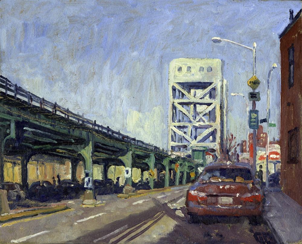 """Broadway Bridge from 219th, New York City"" original fine art by Thor Wickstrom"