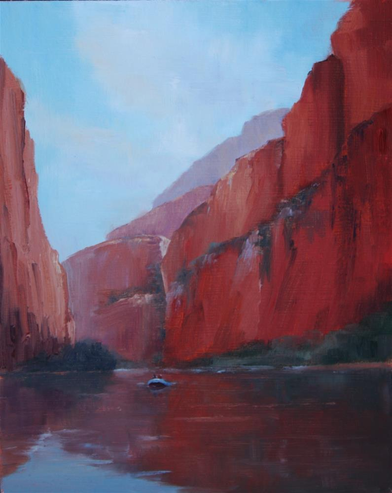 """Blue and the Calm"" original fine art by Sheila Marie"