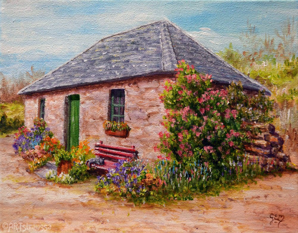 """Miss Mamie's Cottage"" original fine art by Gloria Ester"