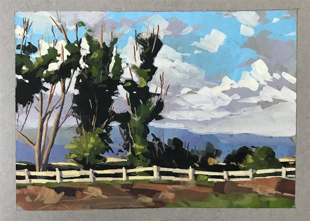 """Bluff View, Carpinteria"" original fine art by Sharon Schock"