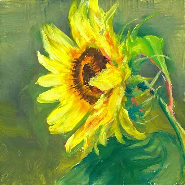 """""""Wind in Her Hair"""" original fine art by Brenda Ferguson"""