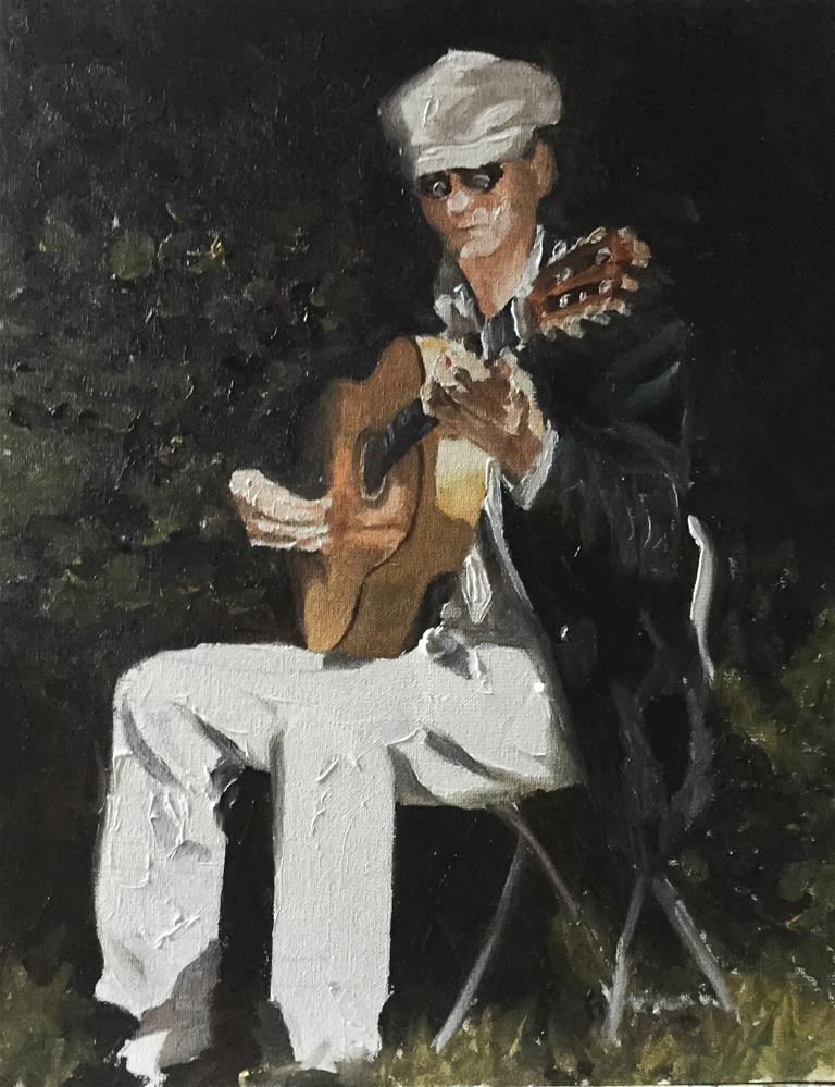 """Guitar in the Sun"" original fine art by James Coates"