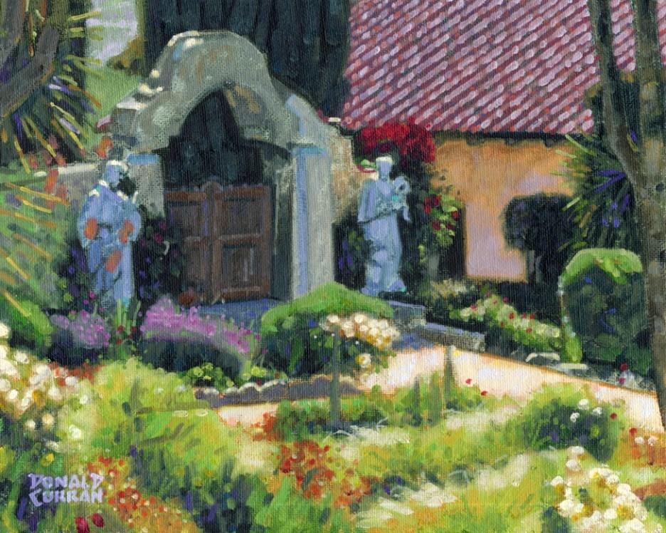 """Carmel Mission Garden"" original fine art by Donald Curran"