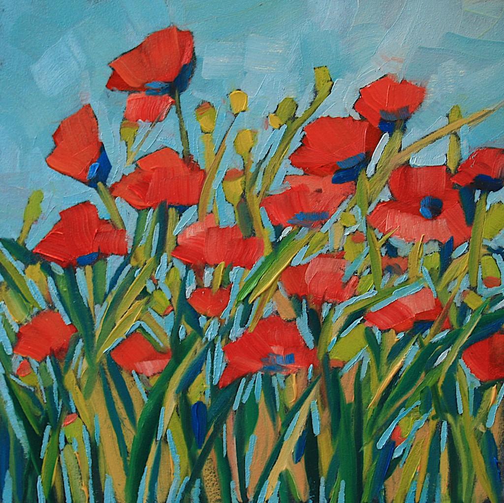 """Poppy Garden"" original fine art by Mary Anne Cary"