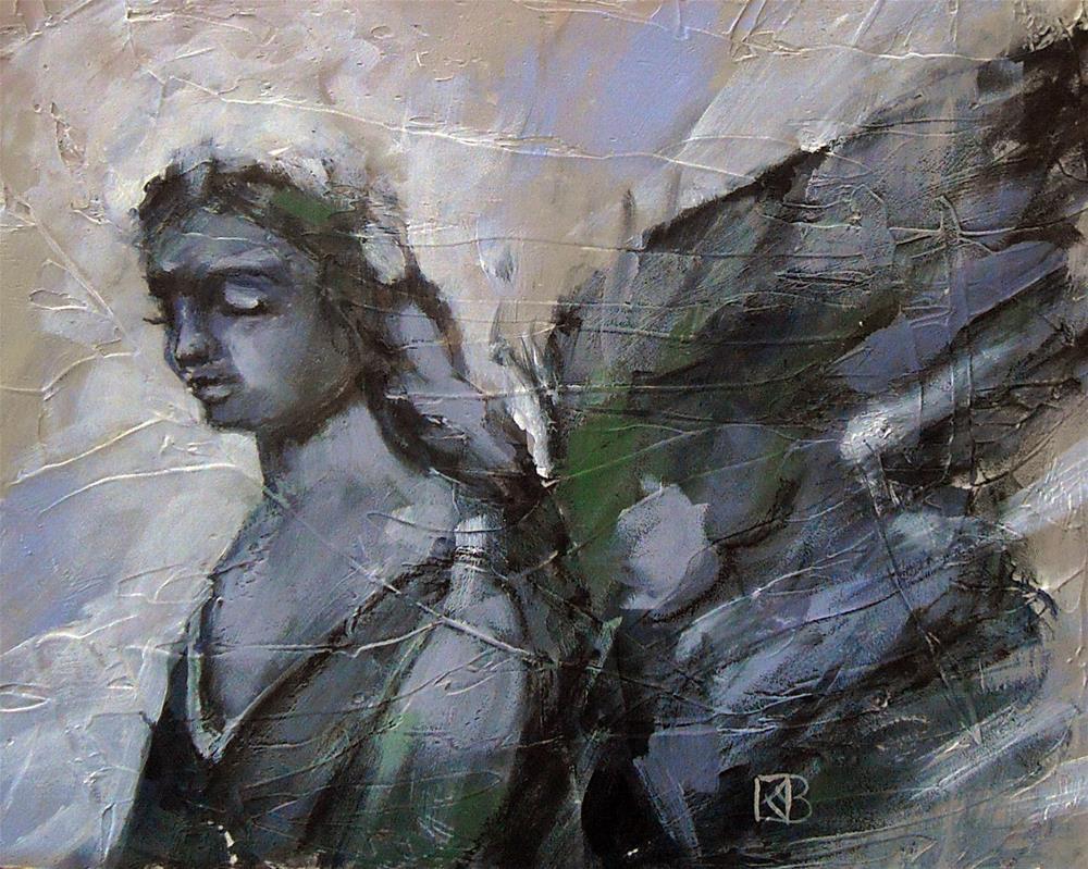 """Dreaming Angel"" original fine art by Kathleen Barnes"