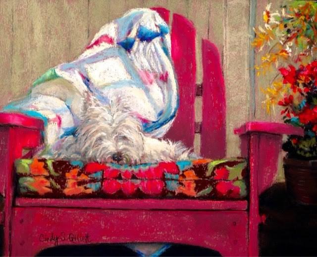 """""""The Hangout"""" original fine art by Cindy Gillett"""