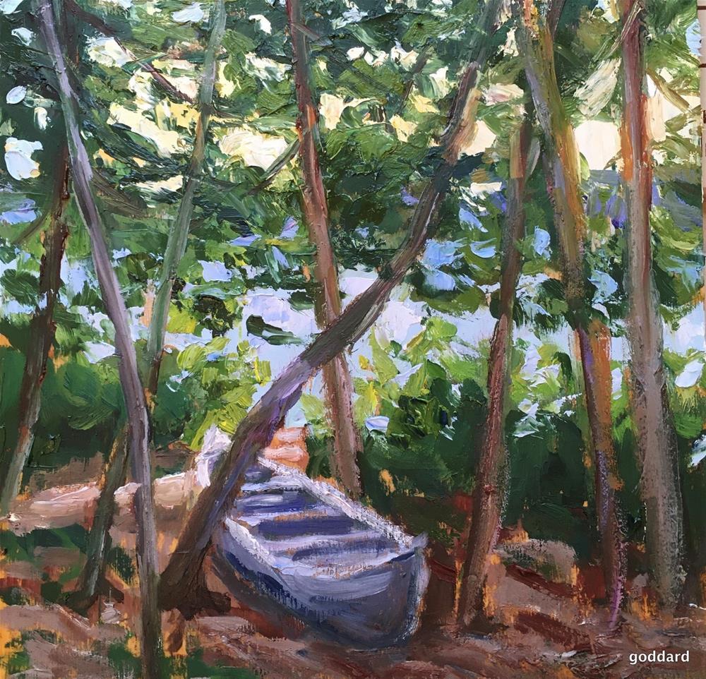 """Waiting"" original fine art by Shari Goddard Shambaugh"