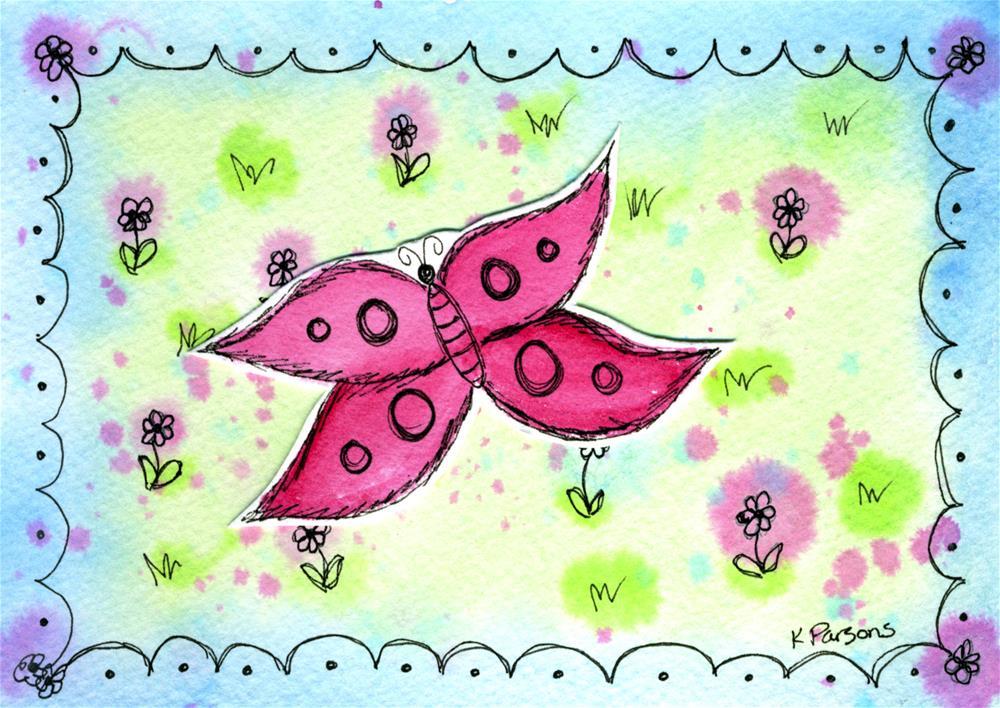 """""""Butterfly in the Meadow"""" original fine art by Kali Parsons"""