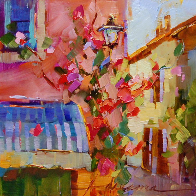 """""""Happy Colors in France"""" original fine art by Dreama Tolle Perry"""