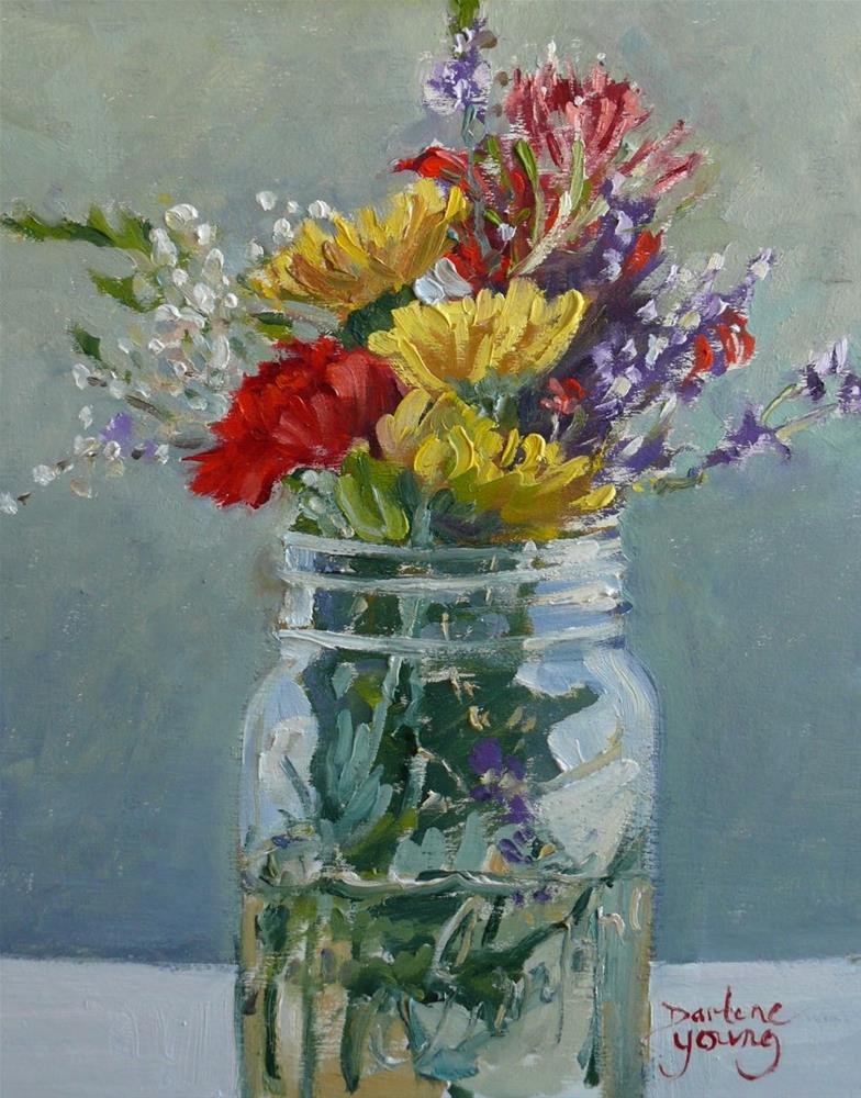"""844 Hometown Beauties, oil on board, 8x10"" original fine art by Darlene Young"