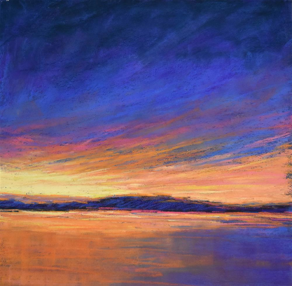 """Sunset on the islands"" original fine art by Alejandra Gos"