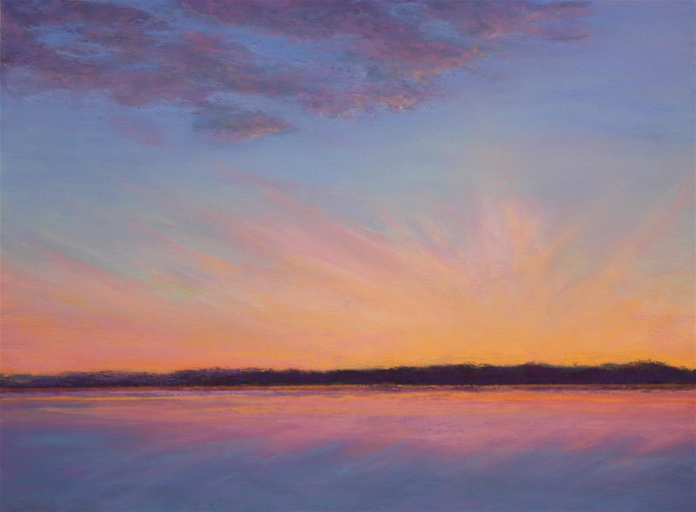 """""""Against the Dying of the Light"""" original fine art by Sharon Lewis"""