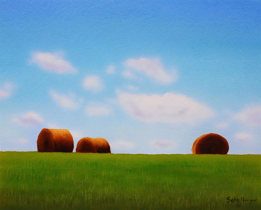 """Green Grass & Blue Skies"" original fine art by Fred Schollmeyer"