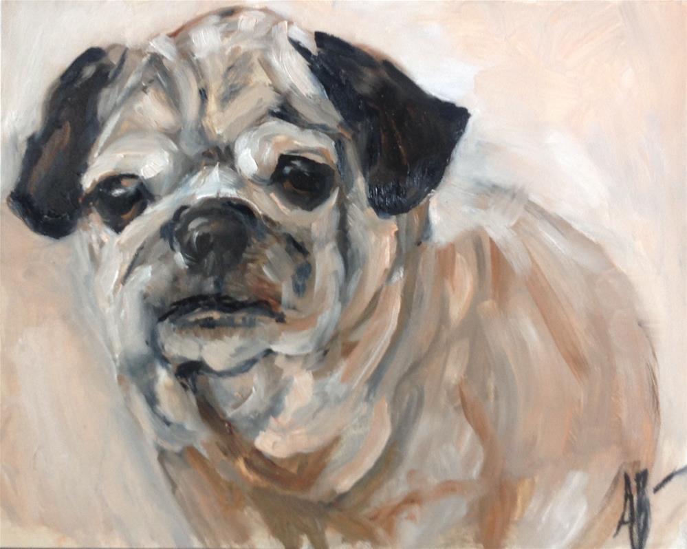 """Bruiser"" original fine art by Annette Balesteri"