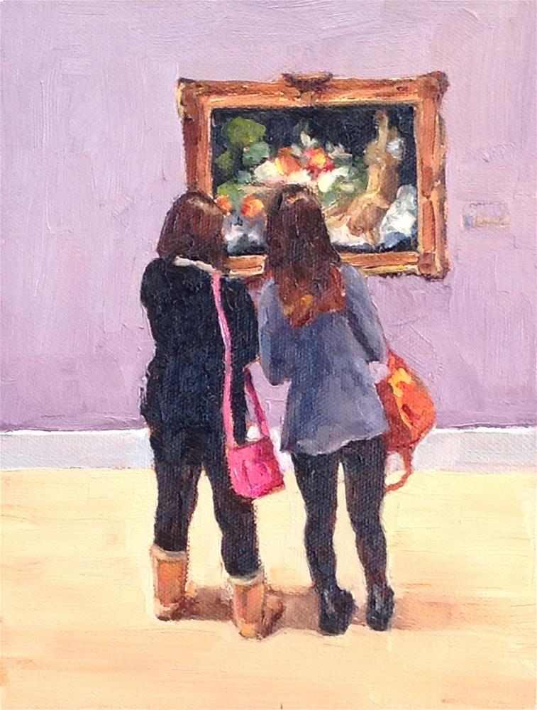"""""""Trip to the Museum"""" original fine art by Alice O'Leary"""