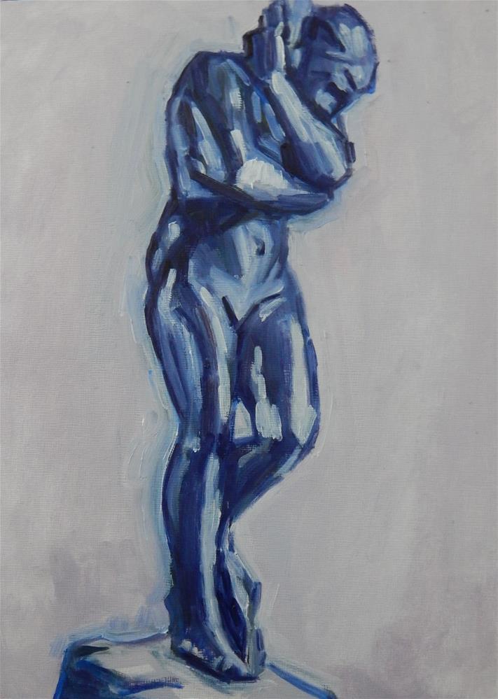 """Study of Bronze Nude"" original fine art by Megan Schembre"