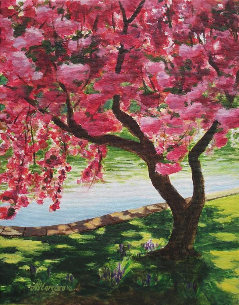 """""""Under pink shade"""" original fine art by Anna Starkova"""