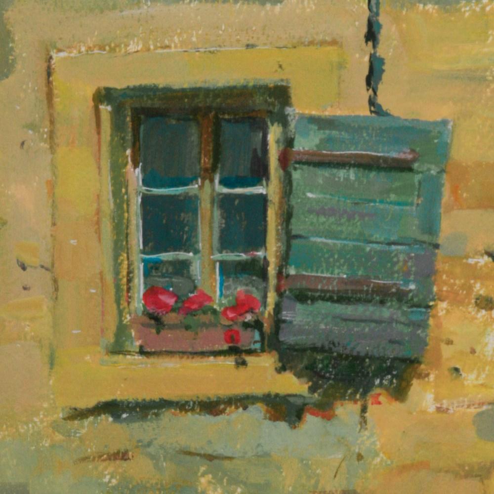 """""""30 in 30. Castillion Window - Provence France"""" original fine art by Julie Snyder"""