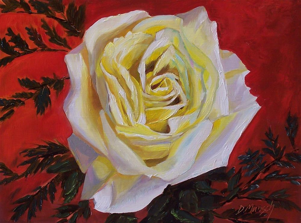 """""""Small Yellow Rose"""" original fine art by Donna Munsch"""